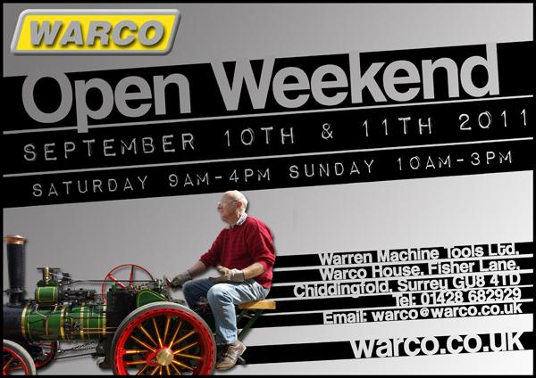 Warco open weekend 2011