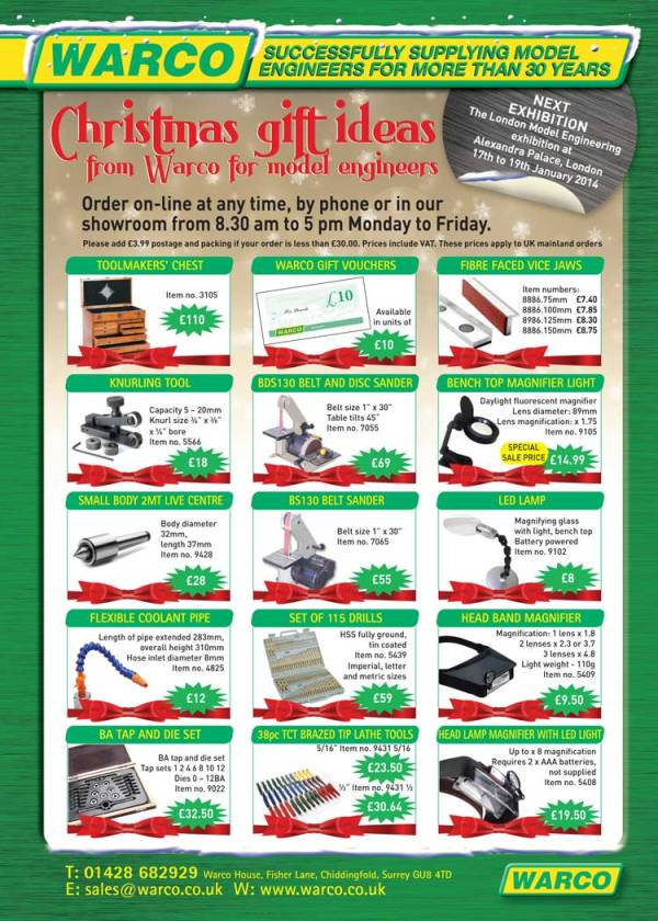 Selection of gift ideas from Warco