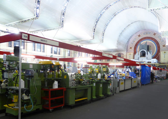 The Warco stand at the London Model Engineering Exhibition