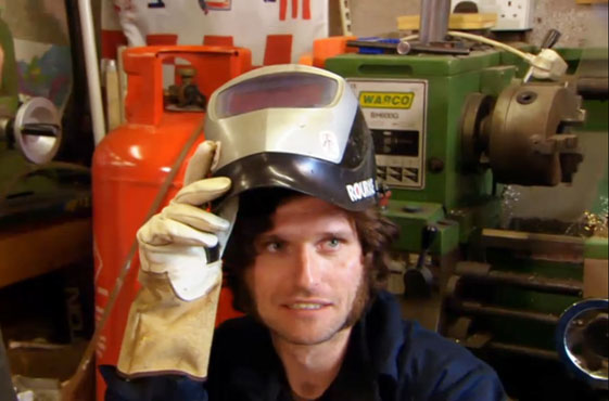 Guy Martin lending a hand as they build part of the bike