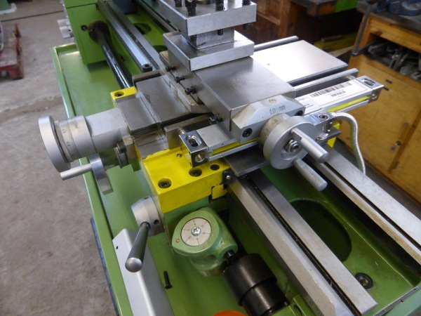 Cross slide DRO on lathe
