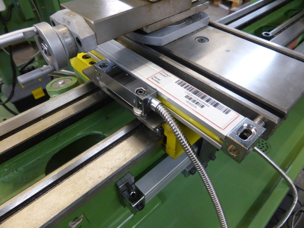 DRO lathe cross travel