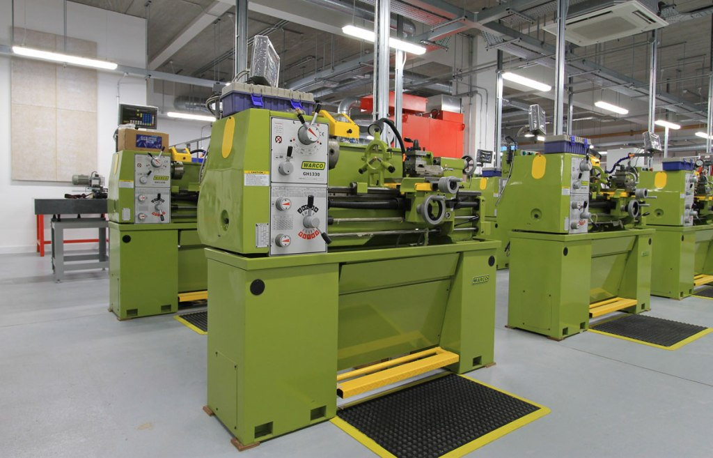 Warco GH1330 lathes in an engineering department