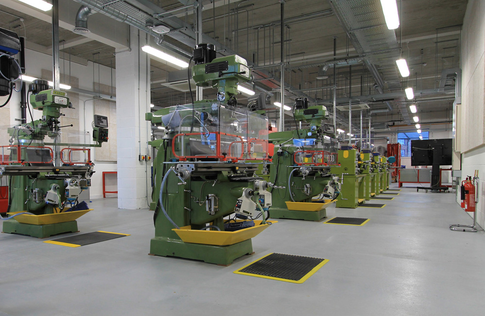 Warco milling machines in the engineering department